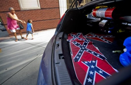 Confederate flags laid at MLK's church