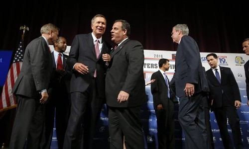GOP Presidential wannabes await debate cutoff
