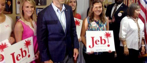 George P. Bush campaigns for dad Jeb