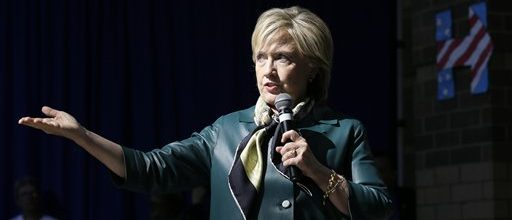 Clinton at increasing odds with Obama