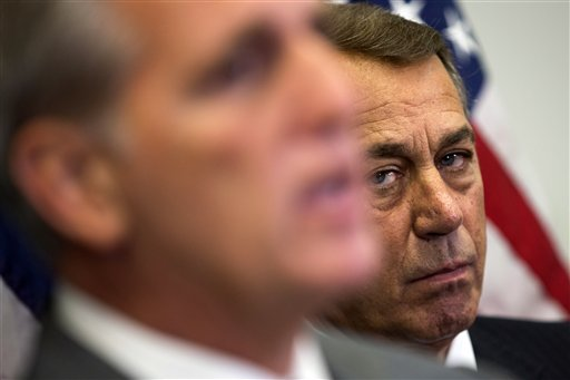 Boehner's sticking around…for the moment