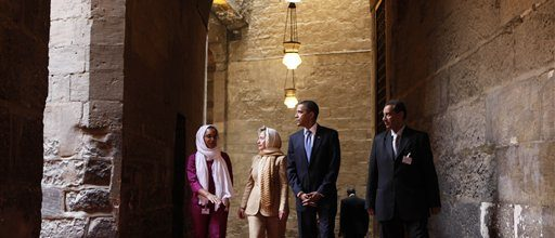 Obama's first visit to a US mosque