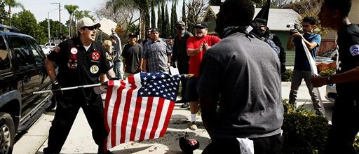 Violence arrives with Klan in California