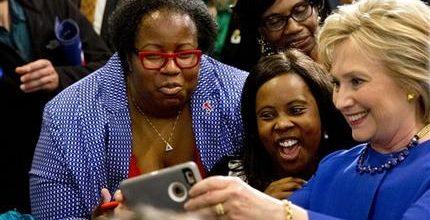 Black women voters stick with Clinton