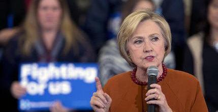 Clinton stresses her Democratic credentials