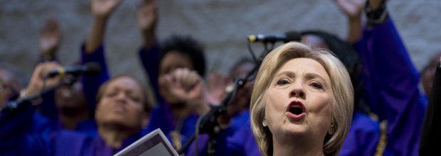 Black churches: Clinton's comfort zone