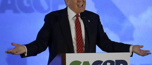 Outsider Trump courts GOP insiders