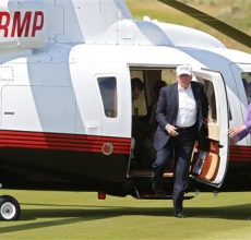 Trump mixes business, politics and golf