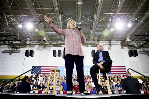 Hillary Clinton mulls running-mate selection