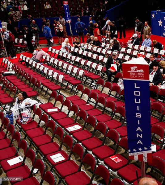 Empty seats at the GOP convention. (Getty)