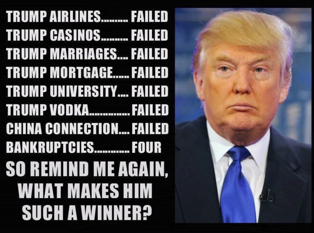 Image result for Trump's bankrupt