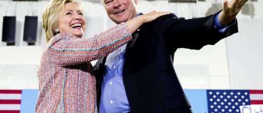 Clinton-Kaine team debuts in Florida