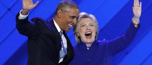 Obama passes baton to Clinton