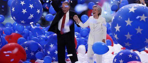 Hillary Clinton promotes national unity, tolerance