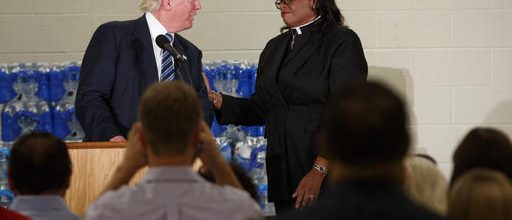 Trump heckled, told to stay on point in Flint