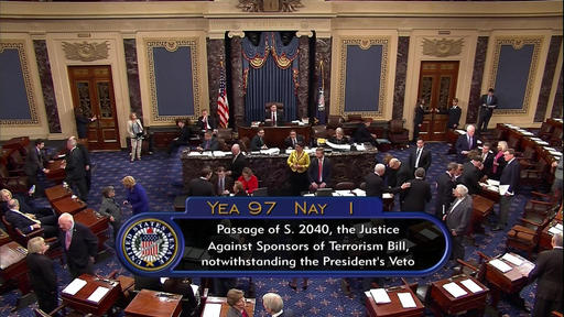 Senate overrides Obama veto of Sept. 11 bill