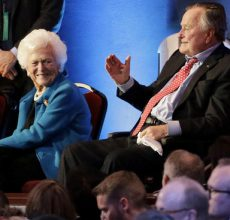 George, Barbara Bush hospitalized