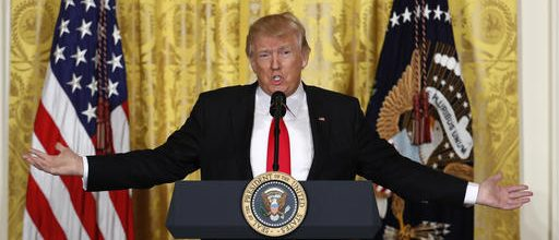 Trump trashes media, claims he's doing great