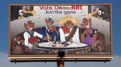 Bandito Obama? Billboard stirs protests