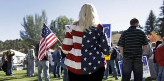 Tea party faithful: False patriots for a false cause (AP Photo/Julie Jacobson)