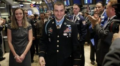 A humble soldier adjusts to fame