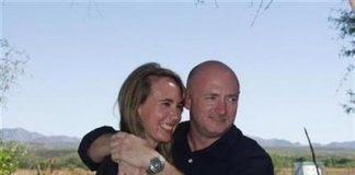 U.S. Representative Gabrielle Giffords (D-AZ) is pictured with her husband NASA Astronaut Mark Kelly in this November 2007 photograph from their wedding made available by the office of Rep. Giffords for Reuters on January 12, 2011. REUTERS/U.S. Rep. Gabrielle Giffords' office/Handout