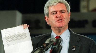 Shadow of Newt Gingrich looms over shutdown