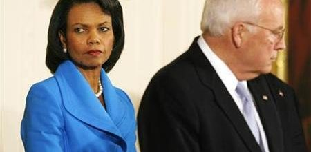 Condoleeza Rice unhappy with Cheney's attacks