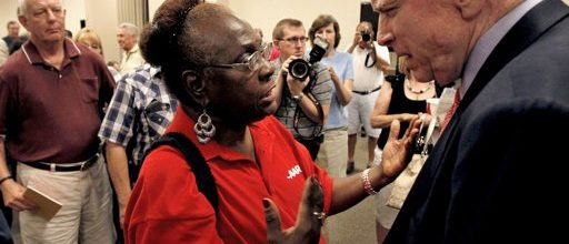 Battle-weary lawmakers avoid town hall meetings