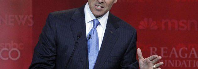 Perry, Romney both twist facts in debate