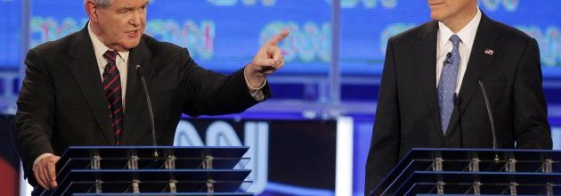 Romney, Gingrich square off in second Florida debate