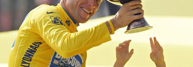 Finally, a little emotion from Lance Armstrong
