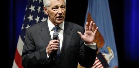 Hagel claims budget cuts puts Pentagon missions in peril