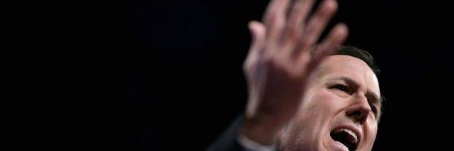 Homophobic Santorum calls endorsement of gay marriage 'suicidal'