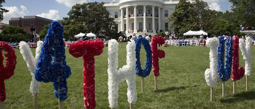 A White House barbeque to thank troops