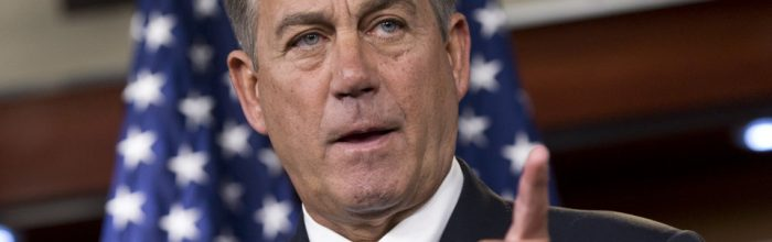 Boehner:  'We need to repeal old laws, not pass new ones'