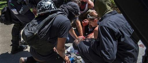 White supremacists clash with opponents