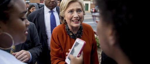 Clinton campaigns with First Lady