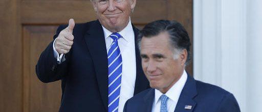 Did Trump, Romney bury the hatchet?