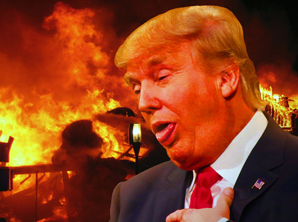 Trump is going down in flames