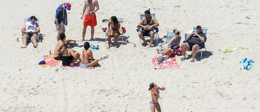 Christie beached in New Jersey