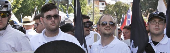 Attacker carried racist emblems