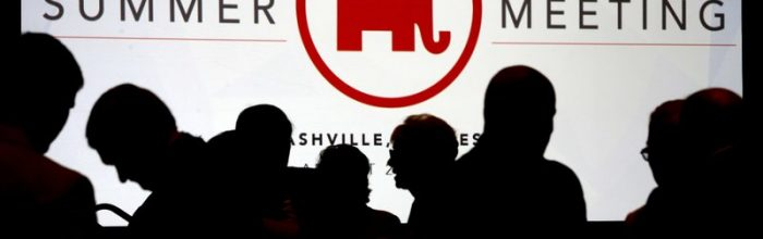 Eyes roll at GOP summer meeting