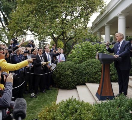 Trump gets chatty with the press