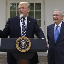 Trump, McConnell claim unity
