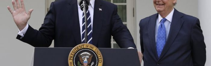Trump, McConnell claim unity